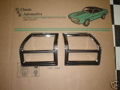 Tail Lamp Light Bezel 69 Chevelle pair w/ Gaskets Seals *In Stock* Malibu