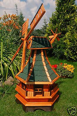 * Windmühle, Windmühlen kugelgelagert 1,3m Bitum in grün, für den Garten