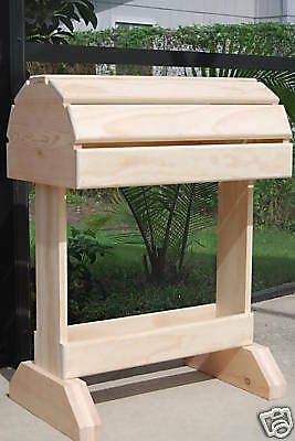 Wooden Saddle Stand / Fits English or Western Saddle/natural finish