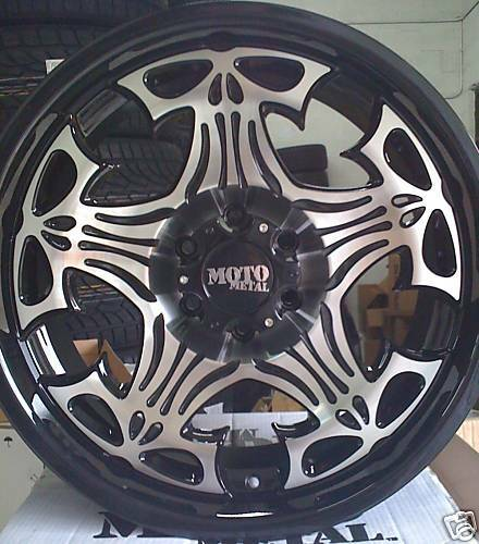 MOTO METAL 909 17 BLACK WHEELS RIMS MO909 CHEVY FORD
