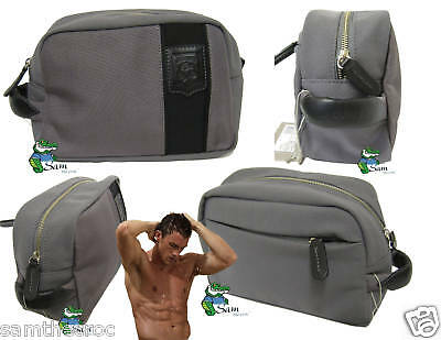 Lacoste Mens Toiletries Wash Kit Travel Bag Off The Court Grey Authentic